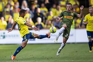 Kamil Wilczek (Br�ndby IF), Karlo Bartolec (FC Nordsj�lland)