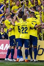 Josip Radosevic (Br�ndby IF), Joel Kabongo (Br�ndby IF), Ante Erceg, m�lscorer (Br�ndby IF), Paulus Arajuuri (Br�ndby IF)