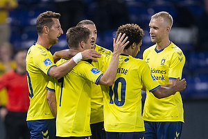Dominik Kaiser, m�lscorer (Br�ndby IF), Hany Mukhtar (Br�ndby IF), Johan Larsson (Br�ndby IF), Kamil Wilczek (Br�ndby IF)