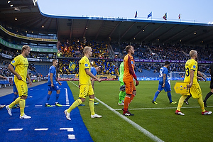 Paulus Arajuuri (Br�ndby IF), Hj�rtur Hermannsson (Br�ndby IF), Marvin Schw�be (Br�ndby IF), Johan Larsson (Br�ndby IF)