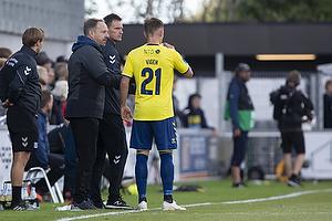 Alexander Zorniger, cheftr�ner (Br�ndby IF), Lasse Vigen Christensen (Br�ndby IF)