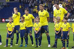 Dominik Kaiser (Br�ndby IF), Paulus Arajuuri (Br�ndby IF), Benedikt R�cker (Br�ndby IF)