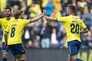 Kasper Fisker (Br�ndby IF), Kamil Wilczek, m�lscorer (Br�ndby IF)