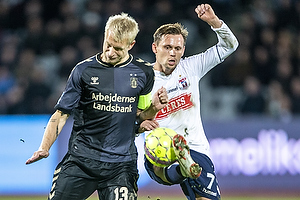 Johan Larsson, anf�rer (Br�ndby IF), Jakob Ankersen (Agf)