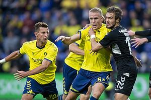 Hj�rtur Hermannsson (Br�ndby IF), Hallur Hansson (AC Horsens)
