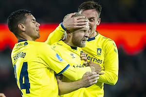 Johan Larsson, m�lscorer (Br�ndby IF), Joel Kabongo (Br�ndby IF), Lasse Vigen Christensen (Br�ndby IF)
