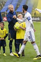 Johan Larsson (Br�ndby IF), Carlos Zeca, anf�rer (FC K�benhavn)