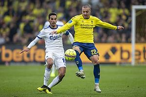 Josip Radosevic (Br�ndby IF), Carlos Zeca, anf�rer (FC K�benhavn)