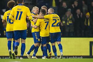 Dominik Kaiser, m�lscorer (Br�ndby IF), Johan Larsson (Br�ndby IF), Josip Radosevic (Br�ndby IF)