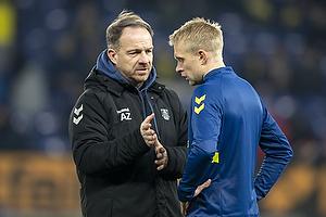 Johan Larsson (Br�ndby IF), Alexander Zorniger, cheftr�ner (Br�ndby IF)