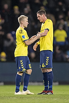 Johan Larsson, anf�rer (Br�ndby IF), Benedikt R�cker (Br�ndby IF)