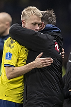 Johan Larsson, anf�rer (Br�ndby IF), Alexander Zorniger, cheftr�ner (Br�ndby IF)