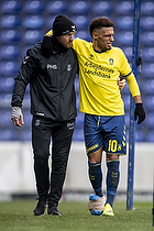 Hany Mukhtar (Br�ndby IF), Peter Schmidt, cheffysioterapeut (Br�ndby IF)
