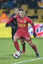 Lasse Vigen Christensen (Br�ndby IF), Karlo Bartolec (FC Nordsj�lland)