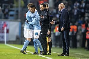 Romain Gall (Malm� FF), Uwe R�sler , cheftr�ner (Malm� FF)