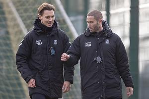 Matthias Jaissle, assistenttr�ner (Br�ndby IF), Martin Retov, cheftr�ner (Br�ndby IF)