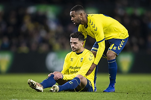 Besar Halimi (Br�ndby IF), Kevin Mensah (Br�ndby IF)