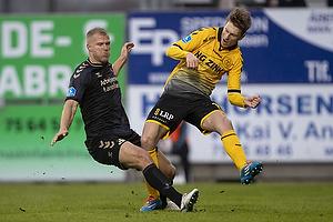 Paulus Arajuuri (Br�ndby IF), Lasse Kryger (AC Horsens)