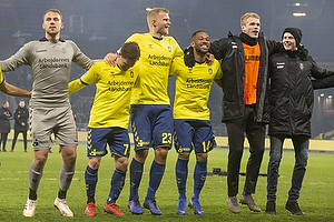 Marvin Schw�be (Br�ndby IF), Dominik Kaiser (Br�ndby IF), Paulus Arajuuri (Br�ndby IF), Kevin Mensah (Br�ndby IF), Nikolai Laursen (Br�ndby IF)