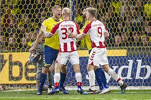 Paulus Arajuuri (Br�ndby IF), Anthony Jung (Br�ndby IF), Kasper Pedersen (Aab), Tom van Weert (Aab)