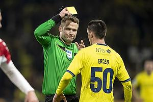 Jens Maae, dommer, Ante Erceg (Br�ndby IF)