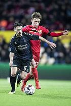 Besar Halimi (Br�ndby IF), Mikkel Damsgaard (FC Nordsj�lland)