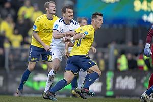 Kamil Wilczek (Br�ndby IF), Andreas Bjelland (FC K�benhavn)