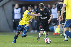 Kevin Mensah (Br�ndby IF), Mads D�hr Tychosen (FC Midtjylland)