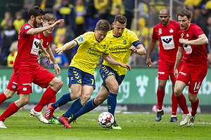 Kamil Wilczek, anf�rer (Br�ndby IF), Dominik Kaiser (Br�ndby IF)