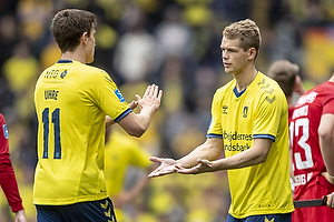 Mikael Uhre (Br�ndby IF), Nikolai Laursen (Br�ndby IF)