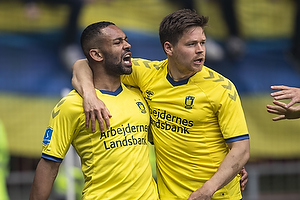 Kevin Mensah, m�lscorer (Br�ndby IF), Dominik Kaiser (Br�ndby IF)