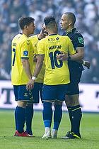 Dominik Kaiser (Br�ndby IF), Hany Mukhtar (Br�ndby IF), Mads-Kristoffer Kristoffersen, dommer
