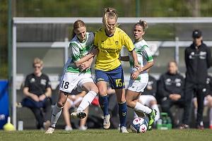 Sara Holmgaard (Fortuna Hj�rring), Frederikke Lindhardt (Br�ndby IF)