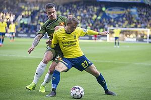 Karlo Bartolec (FC Nordsj�lland), Simon Hedlund (Br�ndby IF)