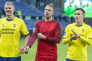 Paulus Arajuuri (Br�ndby IF), Marvin Schw�be (Br�ndby IF), Lasse Vigen Christensen (Br�ndby IF)