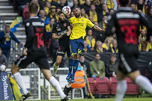 Kevin Mensah (Br�ndby IF), Marc Dal Hende (FC Midtjylland)