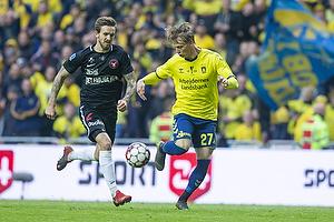Simon Hedlund (Br�ndby IF), Kian Hansen (FC Midtjylland)