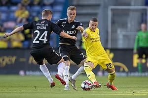 Josip Radosevic (Br�ndby IF), Mikkel Kalles�e (Randers FC)