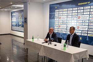 Niels Frederiksen, cheftr�ner (Br�ndby IF), Ebbe Sand, sportsdirekt�r (Br�ndby IF)