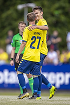 Simon Hedlund (Br�ndby IF), Mikael Uhre (Br�ndby IF)