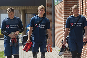 Michael T�rnes (Br�ndby IF), Mads Hermansen (Br�ndby IF), Marvin Schw�be (Br�ndby IF)