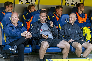 Niels Frederiksen, cheftr�ner (Br�ndby IF), Martin Retov, assistenttr�ner (Br�ndby IF), Jesper S�rensen, assistenttr�ner (Br�ndby IF)