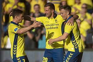 Kamil Wilczek, m�lscorer (Br�ndby IF), Lasse Vigen Christensen (Br�ndby IF), Dominik Kaiser (Br�ndby IF)