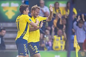 Mikael Uhre (Br�ndby IF), Paulus Arajuuri, m�lscorer (Br�ndby IF)
