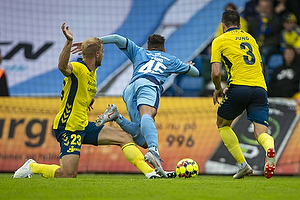 Marvin Egho (Randers FC), Paulus Arajuuri (Br�ndby IF), Anthony Jung (Br�ndby IF)