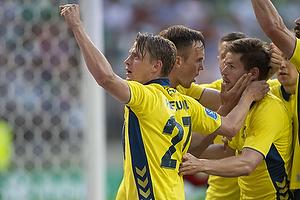 Simon Hedlund, m�lscorer (Br�ndby IF), Dominik Kaiser (Br�ndby IF), Lasse Vigen Christensen (Br�ndby IF)