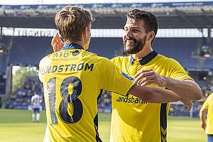 Jesper Lindstr�m, m�lscorer (Br�ndby IF), Anthony Jung (Br�ndby IF)