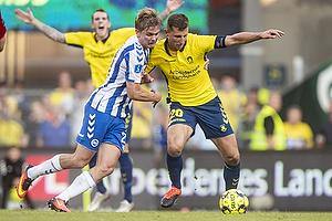 Kamil Wilczek, anf�rer (Br�ndby IF), Mathias Greve (Ob)