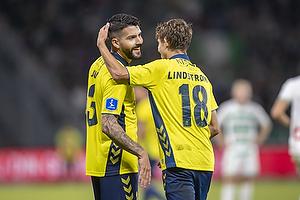 Anthony Jung (Br�ndby IF), Jesper Lindstr�m, m�lscorer (Br�ndby IF)