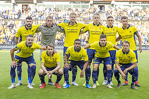 Anthony Jung (Br�ndby IF), Marvin Schw�be (Br�ndby IF), Paulus Arajuuri (Br�ndby IF), Hj�rtur Hermannsson (Br�ndby IF), Lasse Vigen Christensen (Br�ndby IF), Kamil Wilczek, anf�rer (Br�ndby IF), Josip Radosevic (Br�ndby IF), Simon Tibbling (Br�ndby IF), Kevin Mensah (Br�ndby IF), Dominik Kaiser (Br�ndby IF), Simon Hedlund (Br�ndby IF)